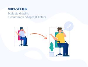 一流设计素材网下午茶:团队合作矢量插画套装[Ai]插图3