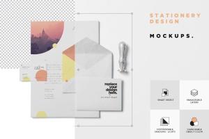品牌VI体系设计方案办公用品预览图样机模板 5 Stationery Design Mockups插图7