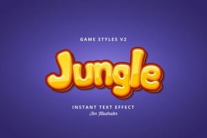 创意游戏字体设计特效AI图层样式v2 Game Styles for Illustrator V2插图1