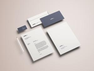 高端品牌VI设计办公用品预览样机PSD模板 Full Branding & Identity Mockup PSD插图4