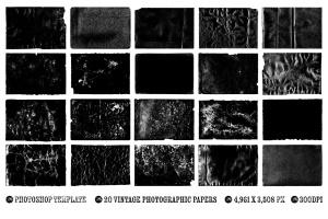 照片一键生成复古怀旧效果图层样式PSD分层模板 Vintage Photo Effects插图3
