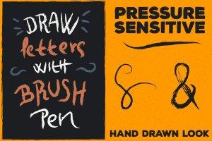 120款手绘画笔AI笔刷大合集 120 Brush Pens for Adobe Illustrator插图2