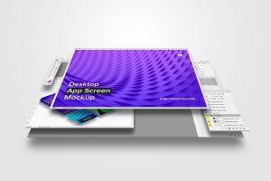 桌面应用程序设计屏幕预览样机01 Desktop App Screen Mockup 01插图2