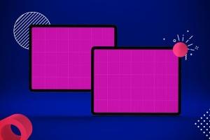 iPad Pro平板电脑UI设计屏幕预览效果图样机 Abstract iPad Pro Mockup插图15