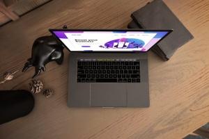 真实场景Macbook笔记本网页UI设计展示样机v1 MacBook Pro V.1插图6