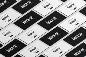 等距平铺企业名片设计样机模板 Business Card Mock Up插图9