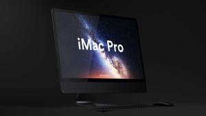 酷黑背景iMac Pro一体机电脑样机模板 Dark iMac Pro Mockup插图10