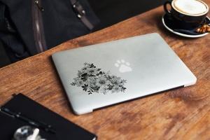 Macbook A面定制外观样机模板 MacBook Skin Mock-Up插图7