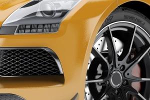 超级豪华跑车梅赛德斯SLS AMG样机模板 Supercar Mercedes SLS AMG Mock-Up插图7