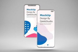 iOS&Android概念手机样机模板 Clean IOS & Android MockUp插图4