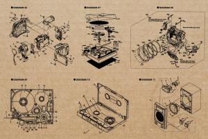 复古视听电器可视化结构矢量图形素材 Retro Diagrams – Audio Visual Edition插图3
