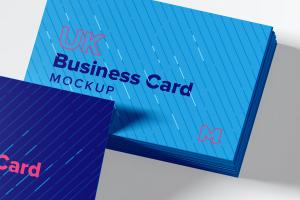 UK标准规格企业名片设计预览图样机模板06 UK Business Cards Mockup 06插图2