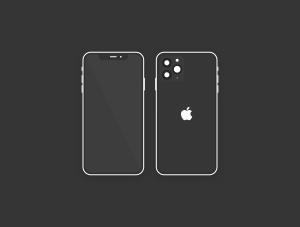 极简主义扁平设计风格iPhone 11 Pro手机样机SKETCH模板插图3