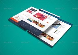 网站界面设计截图3D预览样机模板v3 3D Web Presentation Mockup (V3)插图4