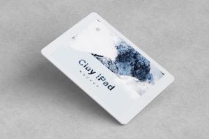 iPad平板电脑屏幕预览UI设计效果图样机01 Clay iPad 9.7 Mockup 01插图4