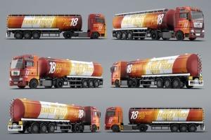 半挂车半挂卡车外观喷漆图案样机模板 Trucks Mock-Up插图12