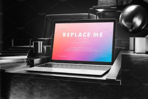 创意的Macbook展示模型Mockups打包下载[psd]插图9