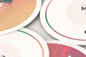 圆形纸杯垫品牌标识展示样机02 Round Coaster Mockup 02插图3
