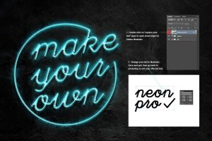 霓虹灯字体文本图层样式 Neon Pro text effect插图5