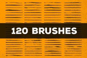 120款手绘画笔AI笔刷大合集 120 Brush Pens for Adobe Illustrator插图3