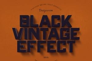 14个复古风格立体特效PS字体样式 14 Vintage Retro Text Effects插图5