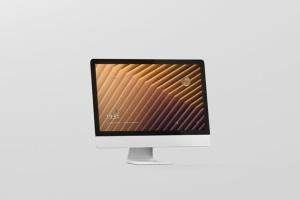 iMac电脑桌面屏幕样机模板 Desktop Screen Mockup插图3