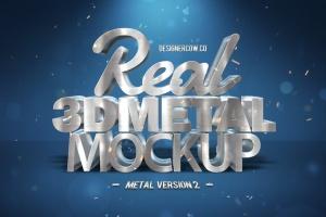 炫酷金属3D特效PSD样机模板v1 Real 3D text Mockups V1插图4