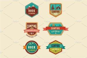 生存工具包图标和露营信息图 Survival Kit, camping infographics插图4