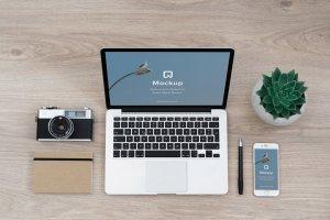 12款苹果笔记本&平板样机模板 Mockup Pack – 12 PSDs插图5
