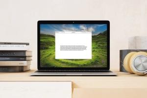 超级本笔记本电脑网页设计展示样机模板 Laptop Mock-up – Interior Set插图1