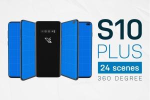 三星智能手机S10移动应用UI设计预览样机 S10 Kit MockUp插图1