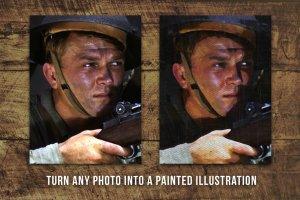 复刻一战二战时期兵役海报模板图层样式 National Service – War Posters Kit插图4