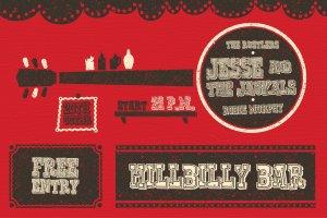 复古西部牛仔电影风格AI图层样式 Western Typography Saloon插图3