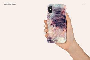 逼真的iPhone X塑料材质手机壳样机展示模型mockups插图5
