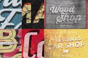 复古做旧风格文本图层样式v5 Vintage Text Effects Vol.5插图4