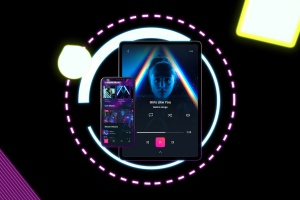 霓虹灯背景iPhone XS & iPad Pro样机模板 Neon iPhone XS & iPad Pro插图4