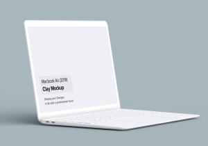 2019款MacBook Air超极本屏幕预览样机模板 Clay Macbook Air Mockup 1.0插图5