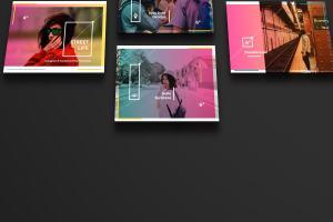 设计媒体创意设计效果图预览等距网格样机模板02 Landscape Perspective Mockup 02插图4