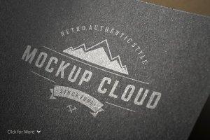 Logo设计纸张印刷展示样机 Logo Mock-Up Set插图4