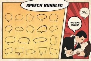 漫威&DC欧美复古漫画插画设计工具包插图(8)