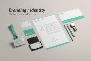 企业品牌办公文具等距样机模板 Branding / Identity Mock-up插图1
