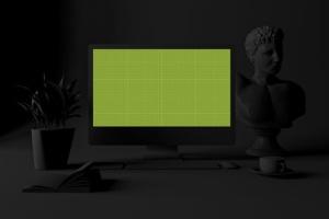 酷黑办公场所MacBook Pro设备样机 Dark Mac Pro插图10