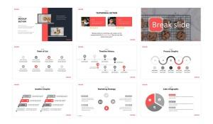 美食品牌宣传/餐饮培训公司适用的Keynote模板 Cookies  – Business Keynote Template插图4