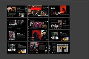 潮时尚酷黑背景Keynote幻灯片模板下载 Hypetone – Keynote插图11