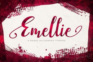 付费手写英文字体 Emellie Script Font插图1