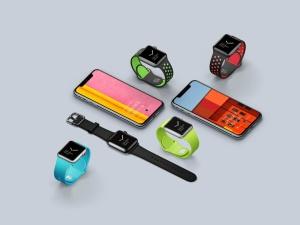 超级主流桌面&移动设备样机系列:Apple Watch 智能手表样机 [兼容PS,Sketch;共2.92GB]插图11