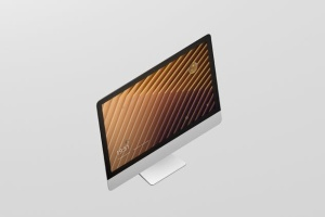 iMac电脑桌面屏幕样机模板 Desktop Screen Mockup插图5