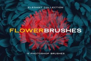 15款优雅花卉图案PS笔刷 Elegant Flower Brushes for Photoshop插图1