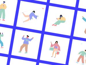 一流设计素材网下午茶:社交媒体生活概念矢量插画素材下载[Ai]插图2