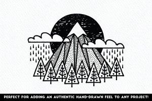 素描线条纹理&AI笔刷 Fine Liner – Affinity Brushes插图4